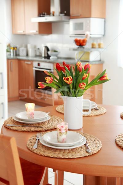 Kitchen and dining room interior  Stock photo © brebca