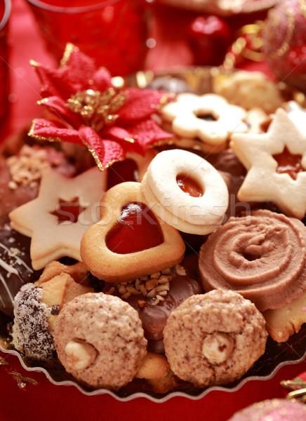 Delicious Christmas cookies Stock photo © brebca