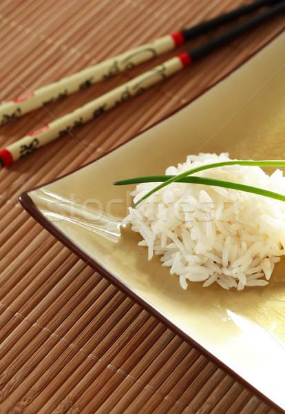 Arroz porción placa zanahoria comer almuerzo Foto stock © brebca