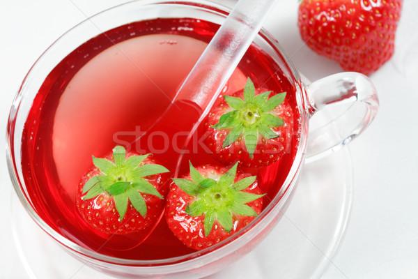 Obst Teetasse Tee Natur Sommer entspannen Stock foto © brebca
