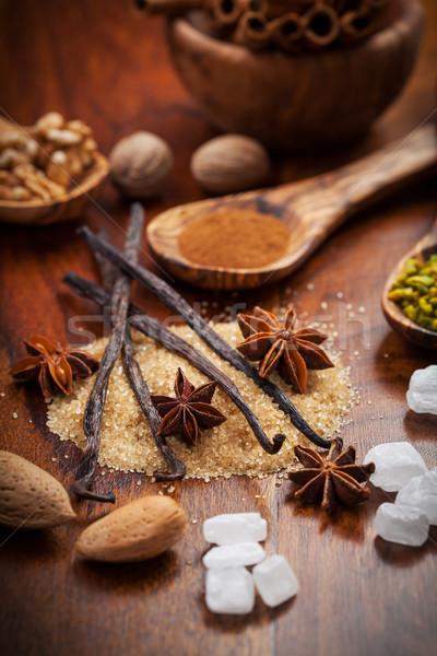 Noel baharatlar malzemeler fındık gıda Stok fotoğraf © brebca
