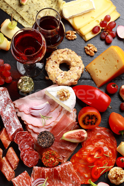 Stock photo: Antipasto catering platter