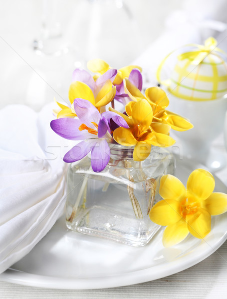 Easter place setting Stock photo © brebca