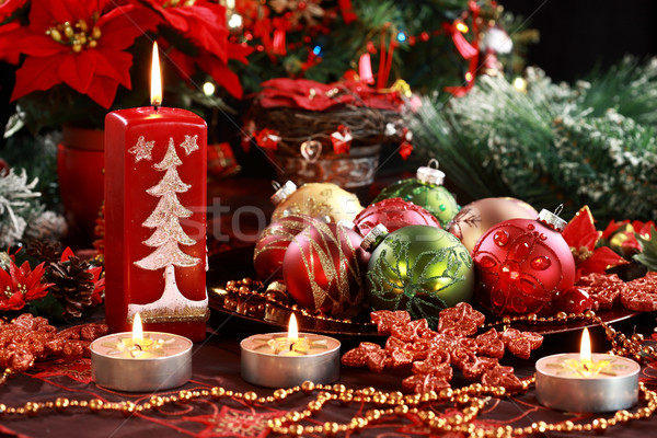 Christmas ornamenten mooie tabel decoratie star Stockfoto © brebca