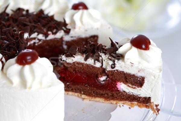 Darab torta finom édes születésnap gyümölcs Stock fotó © brebca