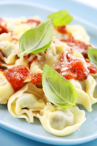 Small tortellini with tomato sauce and cheese Stock photo © brebca