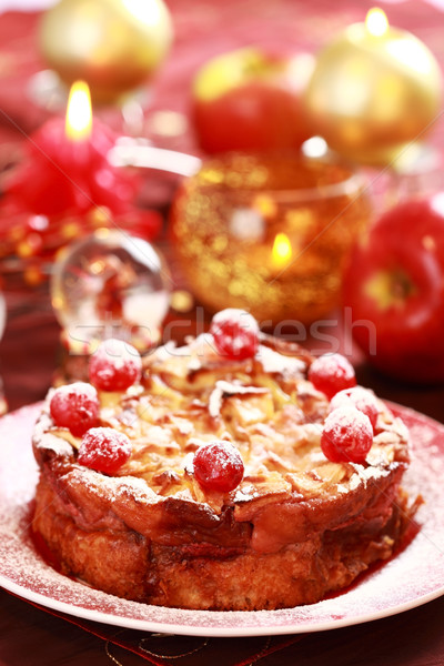 Traditional apple pie for Christmas Stock photo © brebca
