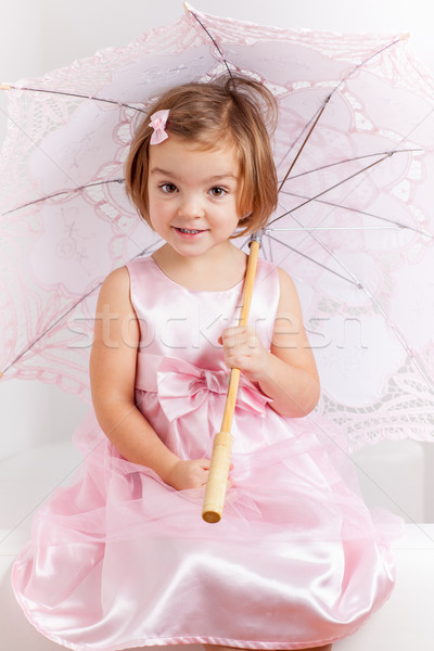 Cute playful little princess Stock photo © brebca