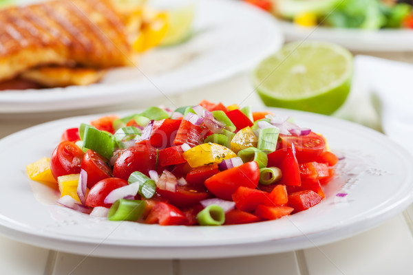 Salsa salad for hot summer Stock photo © brebca