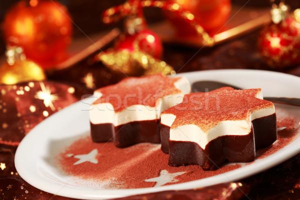 dessert weihnachten sterne kuchen eis abendessen. Black Bedroom Furniture Sets. Home Design Ideas