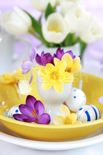 Húsvét hely részlet húsvéti tojások tavasz tojás Stock fotó © brebca