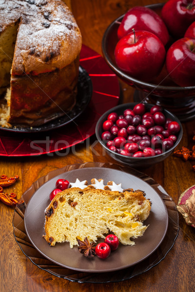 Slices of panettone Stock photo © brebca