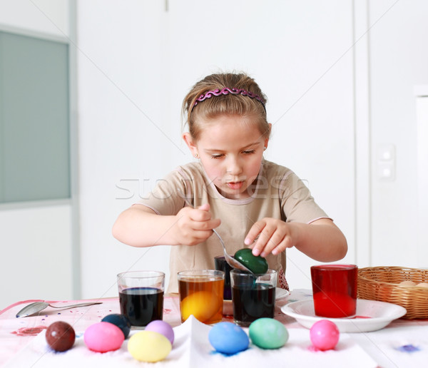 Painting Easter eggs Stock photo © brebca