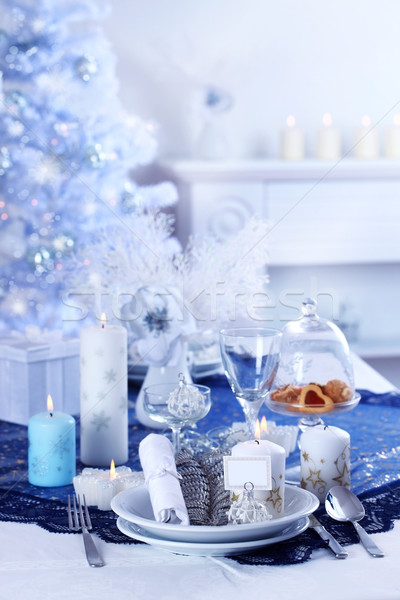 Luxury place setting for Christmas Stock photo © brebca