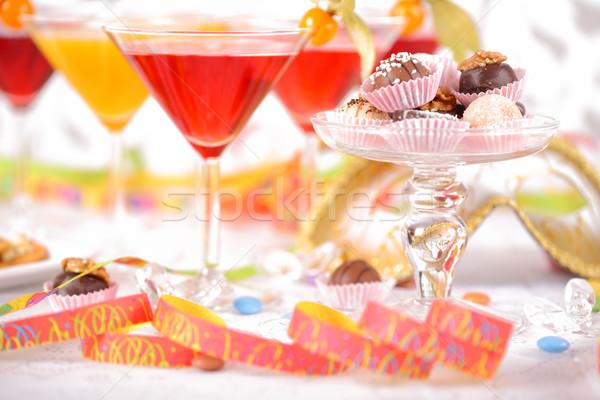 Buli édes születésnapi buli karnevál ital jókedv Stock fotó © brebca