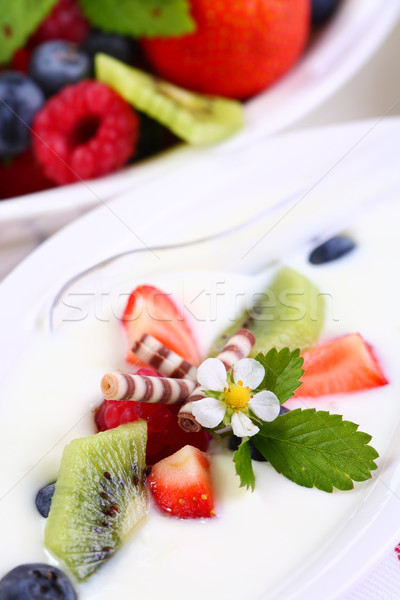 White yogurt Stock photo © brebca