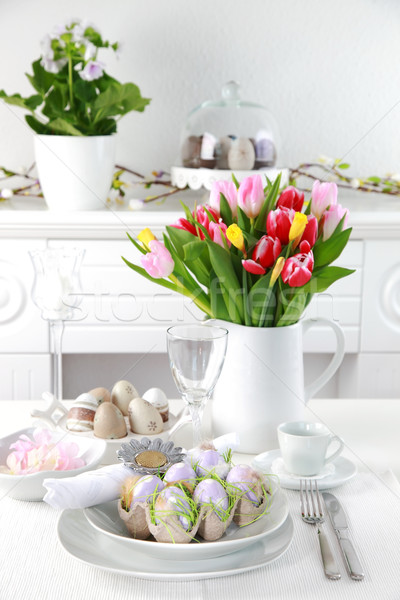 Place setting for Easter Stock photo © brebca
