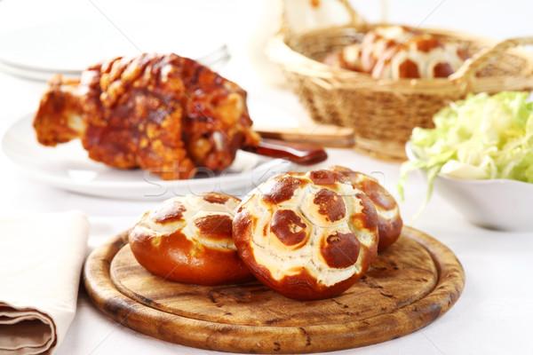 Pretzel bread rolls Stock photo © brebca