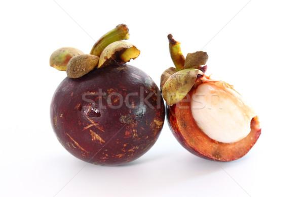 Мангостин фрукты экзотический белый продовольствие азиатских Сток-фото © brebca