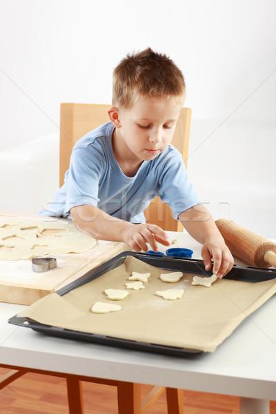 小 少年 クッキー クリスマス 手 ストックフォト © brebca