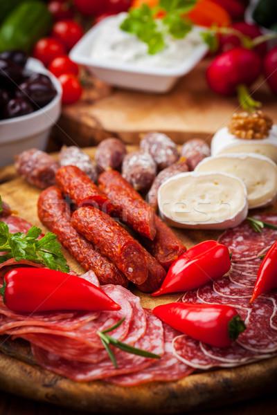 Antipasti vendéglátás étel étterem vacsora saláta Stock fotó © brebca