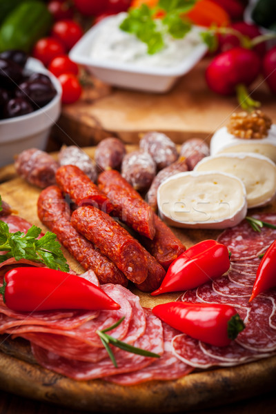 Antipasti restauration alimentaire restaurant dîner salade Photo stock © brebca