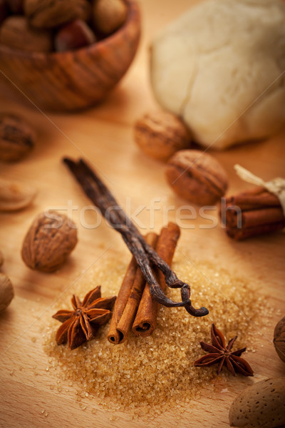 Aromatic ingredients for baking Christmas cookies Stock photo © brebca