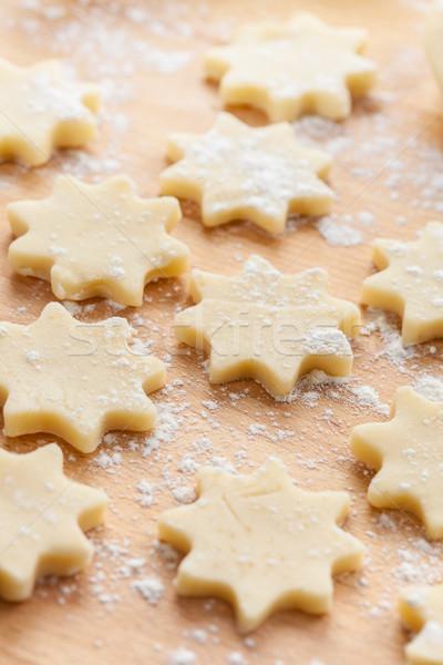 Raw Christmas cookies Stock photo © brebca