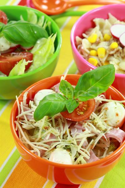 Inny bufet zdrowa żywność żywności restauracji zielone Zdjęcia stock © brebca