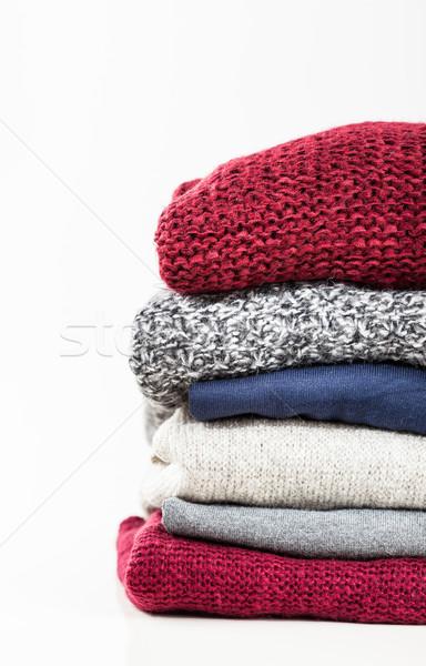 Handgemaakt wol mode achtergrond weefsel Stockfoto © brebca