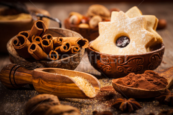 Baking ingredients and spices Stock photo © brebca