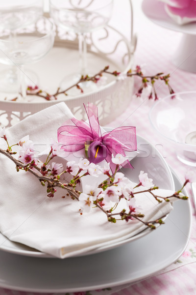 Luogo decorato tavola bianco piccolo presenti Foto d'archivio © brebca