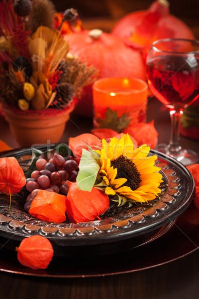Foto d'archivio: Autunno · luogo · ringraziamento · mela · frutta · vetro