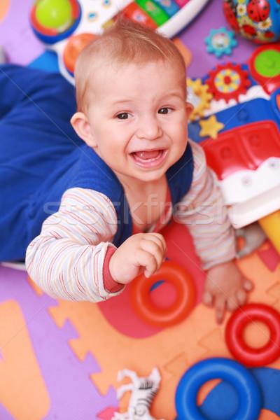 Płacz baby dzieci dziecko zabawki grać Zdjęcia stock © brebca