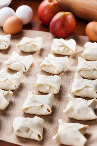 Delicious apple turnovers Stock photo © brebca