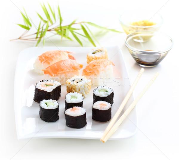 суши Японский продовольствие выстрел рыбы ресторан Сток-фото © brebca