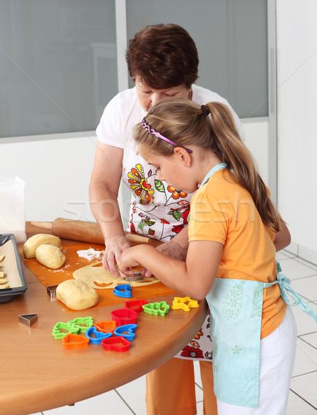 Baking cookies Stock photo © brebca