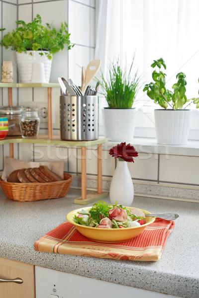 ストックフォト: キッチン · キッチンのインテリア · 家族 · 家 · 食品 · ホーム