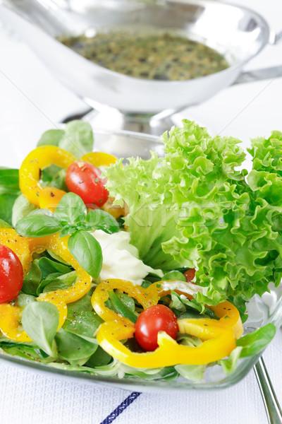 Lezzetli sebze salata düşük kalori sağlık Stok fotoğraf © brebca