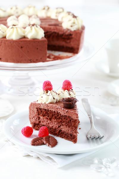Heerlijk verjaardag vruchten chocolade restaurant Stockfoto © brebca