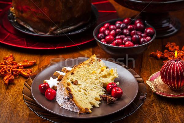 Panettone cake for Christmas Stock photo © brebca
