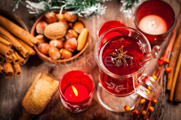 Forró bor hozzávalók karácsony tél fa Stock fotó © brebca
