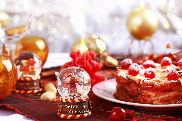 Christmas table setting Stock photo © brebca