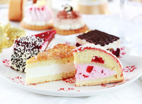 Slagroom gebak ander desserts partij chocolade Stockfoto © brebca
