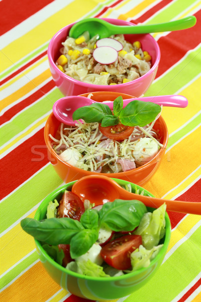 Différent buffet aliments sains alimentaire restaurant vert Photo stock © brebca