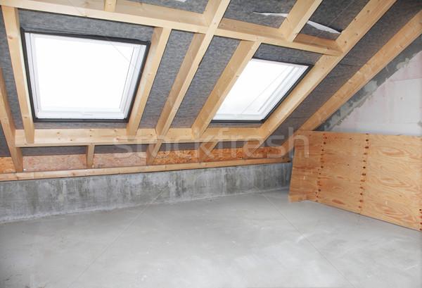 Pustym pokoju budowy dwa domu okno pokój Zdjęcia stock © brebca