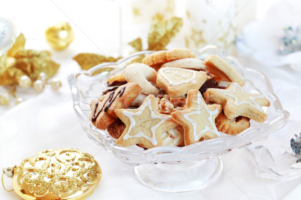 クリスマス ジンジャーブレッド クッキー ケーキ 星 ストックフォト © brebca