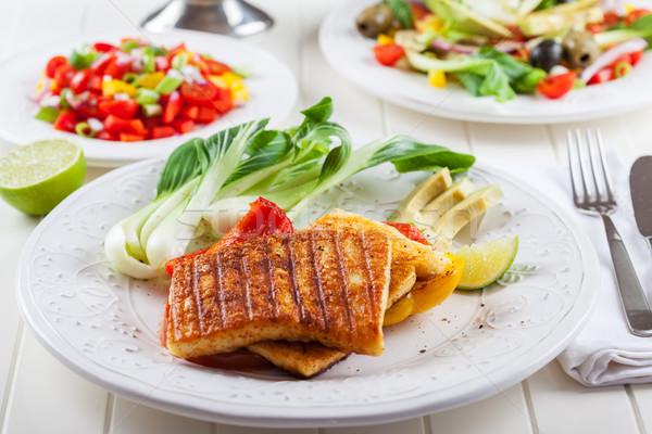 焼き チーズ サルサ サラダ 中国語 キャベツ ストックフォト © brebca