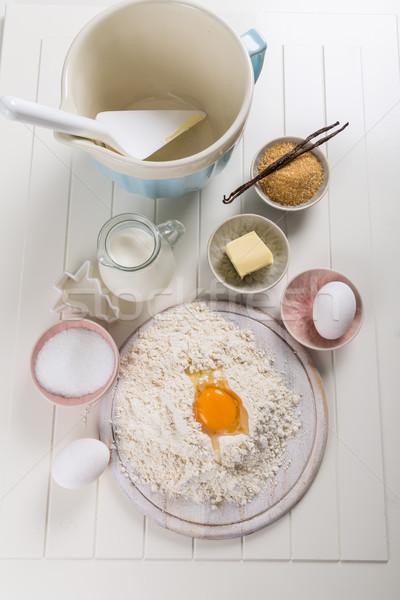 Baking utensils and ingredients Stock photo © brebca