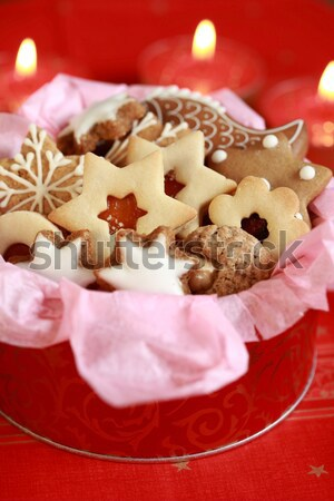 Detail of Christmas cookies Stock photo © brebca
